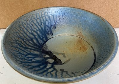 Blue Handmade Stoneware Bowl | David Collins Pottery